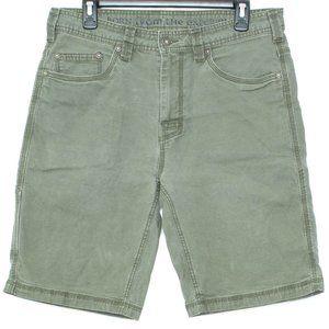 Prana Mens Shorts Jean Green 33 BQ